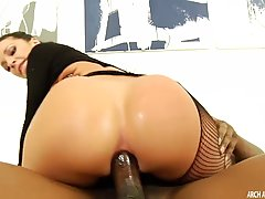 Incredible Jada Stevens, in high heels is wildly riding her horny client's massive black cock