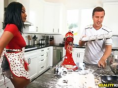 Jenna J Foxx is making very tasty food and having casual sex...