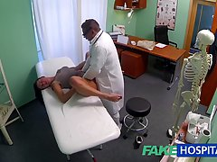 Slutty babe is getting fucked in the ass in her doctor&#...