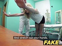 Czech blonde is getting fucked in the hospital, thinking tha...