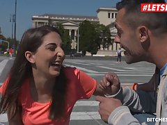 Adorable Spanish chick has hooked up with a stranger just because she needed a good fuck