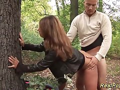 German woman likes to have outdoors sex, even with a guy she...