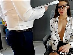 Hot office lady and her co- worker are often masturbating wh...
