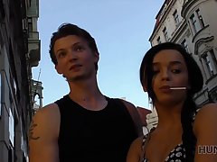Experienced, teen brunette made her boyfriend watch while sh...