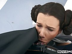 Anal sex loving Princess Leia is doing it with a horny man f...