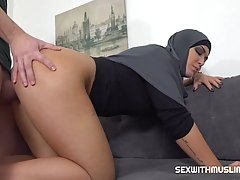 Muslim woman is getting fucked harder than she could even im...