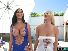 Jasmine Jae and London River are getting their asses fucked ...