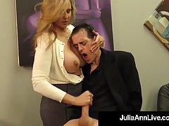 Julia Ann is a smashing blonde woman, who likes to rub dicks...