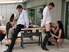 Anissa Kate and Clea Gaultier are having a casual foursome i...