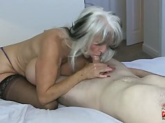 Sally Dangelo is a hot mature cock teaser who seems to like ...