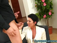 Amazing brunette is often cheating on her husband and giving...