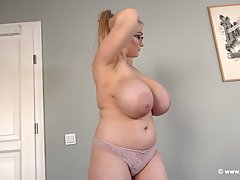 Lana M is a big titted, blonde honey who likes to pose tople...