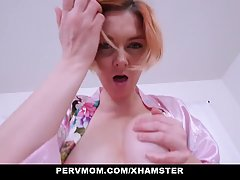 Horny mommy is having wild sex with her handsome step- son a...