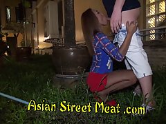 Petite Thai teen is getting hammered in the middle of the ni...