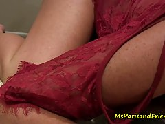 Even though she was keeping social distance, horny blonde mo...