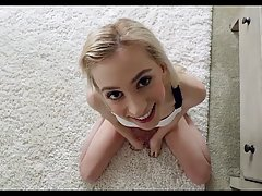 Skinny blonde babe has a thing for her step- brother and his...