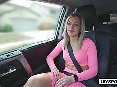 Naughty blonde lady, Allie Nicole is horny all day long and ...