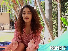 Scarlit Scandal is a charming, ebony gal with curly hair who...