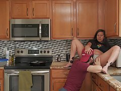 Latin housewife gave a blowjob to a handyman and ended up fu...