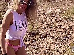 Busty babe is having casual sex during a hiking tour and moa...