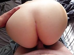 Big ass babe is moaning while getting banged from the back, ...