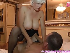 Busty German blonde is getting hammered from the back and en...