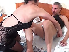 Insatiable mature is always searching for younger guys who w...