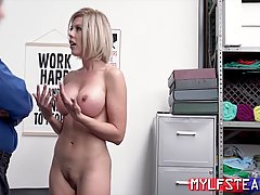 Busty blonde milf, Amber Chase was caught stealing from the ...