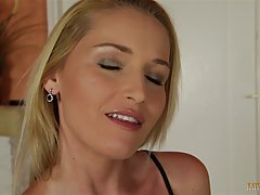 Blue- eyed blonde knows how to make up to her step- son, for making him feel bad