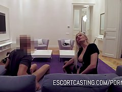 Hot blonde who used to be a stripper is now working as an es...