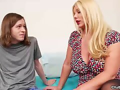 Skinny guy is about to get a titjob from his best friend&...