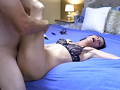 Stacie likes to get her ass stimulated with big objects or r...