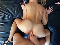 Small titted blonde, Daynia likes to suck dick and lick ball...