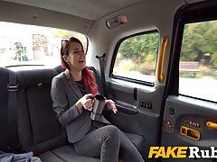 Red haired babe, Cindy Shine got nailed in the back of a tax...