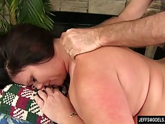 Chubby brunette with big tits, Crystal Valentin is moaning w...