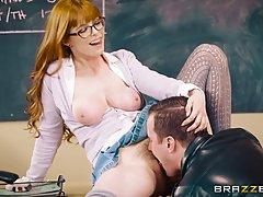 Учитель рыжая Пенни Пакс имеющие половые контакты с одним из...
