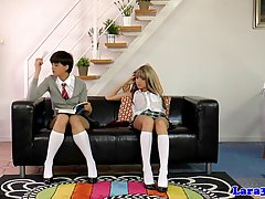 Two naughty schoolgirls decided to make love with each other...